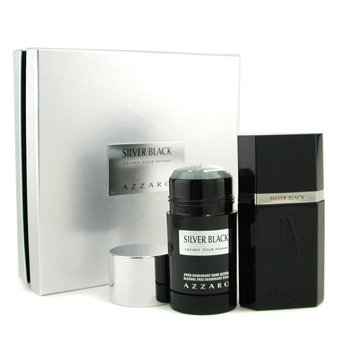Loris AzzaroSilver Black Coffret: Eau De Toilette Spray 50ml/1.7oz + Deodorant Stick 75ml/2.7oz 2pcs