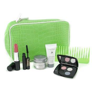 Lancome-Travel Set: Renergie Cream + Renergie Night Cream + Color Design Eye Shadow + Definicils Mascara + Color Design Lipstick+Comb