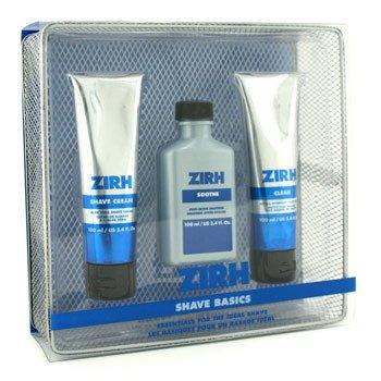 Zirh International-Shave Basics: Clean 100ml + Shave Cream 100ml + Soothe 100ml + Basket Tray