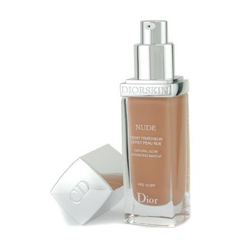 Christian Dior-Diorskin Nude Natural Glow Hydrating Makeup SPF 10 - # 040 Honey Beige