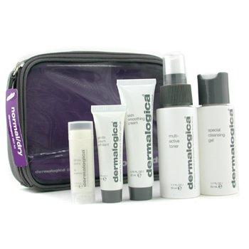 Dermalogica-Normal/ Dry Skin Kit: Cleanser 50ml+ Toner 50ml+ Smoothing Crm 22ml+ Exfoliant 10ml+ Lip Trt 4.5g+ Bag