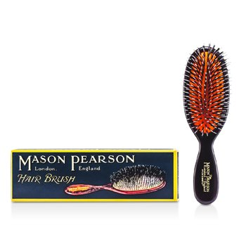 Mason Pearson Boar Bristle & Nylon - Pocket Mixture Bristle & Nylon Hair Brush (Dark Ruby)  1pc