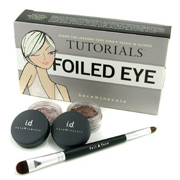 MakeUp SetBareMinerals Folied Eye Tutorials: Glimmer 0.57g + Glimpse 0.57g + Foil & Fuse Eye Brush 3pcs