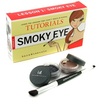 Bare Escentuals-Smoky Eye Tutorials Lesson 1: Eyeshadow 0.57g + Glimmer 0.57g + Double-Ended Smoky Eye Brush