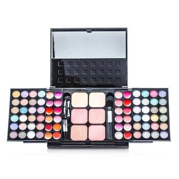 Cameleon-MakeUp Kit 396 ( 48x Eyeshadow, 24x Lip Color, 2x Pressed Powder, 4x Blusher, 5x Applicator )