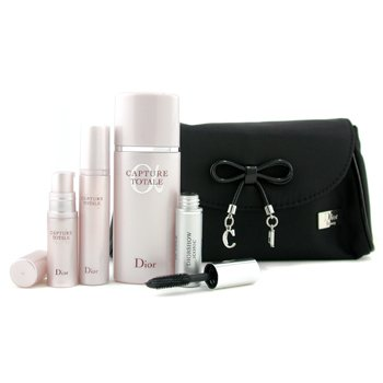 Christian Dior-Capture Totale Set: Lotion + Concentrate Serum + Eye Treatment + Mascara + Bag