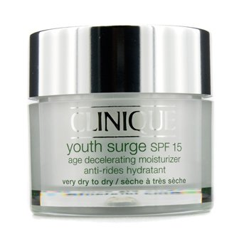CliniqueYouth Surge SPF 15 Age Decelerating Moisturizer - Very Dry to Dry 50ml/1.7oz