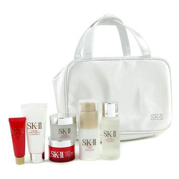 SK II-Travel Set: Emulsion 30g+ Cleanser 20g+ Cleansing Gel 15g+ Essence 30ml+ Lifter 5g+ Totality 15g+ Bag