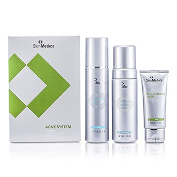 Skin Medica-Acne System: Foaming Wash 147.87ml+ Toner 177.44ml+ Lotion 56.7g
