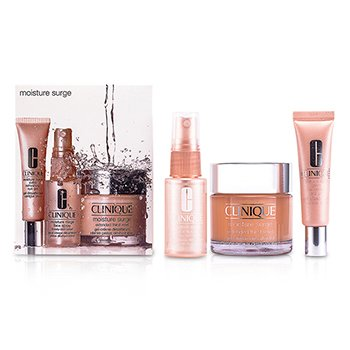 CliniqueMoisture Surge Set: Cream 75ml + Eye Gel 15ml + Face Spray 30ml 3pcs
