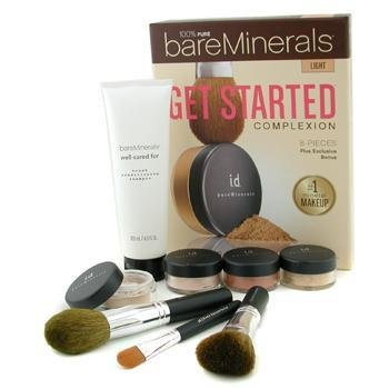 Bare Escentuals-100% Pure BareMinerals Get Started Complexion Kit - Light ( 2xFdn Spf15+Mineral Veil+Face Color+3xBrush+DVD+Brush Shampoo )