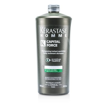 Kerastase Homme Capital Force Daily Treatment Shampoo (Anti-Oiliness Effect) 1000ml/34oz