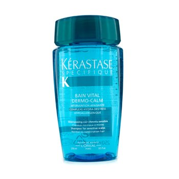 Dermo CalmKerastase Dermo-Calm Bain Vital Shampoo (Sensitive Scalps & Normal to Combination Hair) 250ml