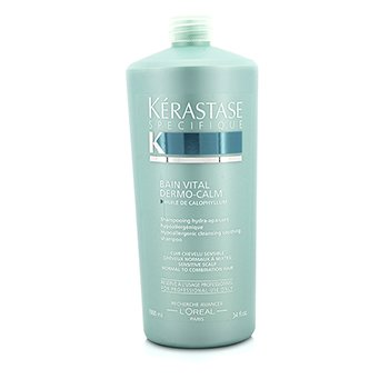 Kerastase Dermo-Calm Bain Vital Shampoo (Sensitive Scalps & Normal to Combination Hair) 1000ml/34oz