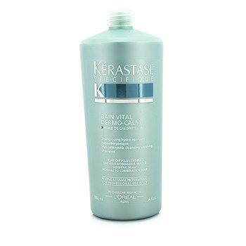 Kerastase Dermo-Calm Bain Vital Shampoo (Sensitive Scalps & Normal to Combination Hair)  1000ml/34oz