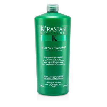 Kerastase Kerastase Resistance Bain Age Recharge Shampoo (For Tight Scalps & Hair Losing Vitality)  1000ml/34oz