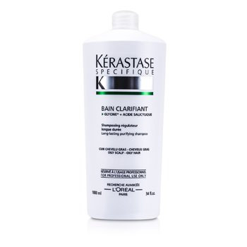 Kerastase Specifique Bain Clarifant Long Lasting Regulating Shampoo (For Oily Scalp & Hair)  1000ml/34oz