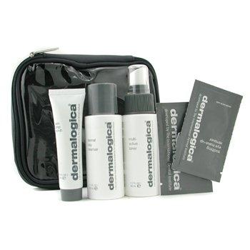 Dermalogica-Travel Set: Cleanser 50ml+ Toner 50ml+ Scrub 22ml+ 2x Sample+ Bag
