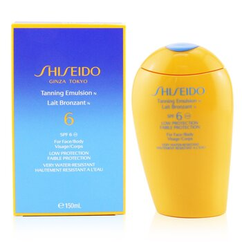 Shiseido Tanning Emulsion SPF 6 (For Face & Body)  150ml