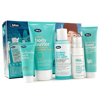 Bliss-You Look Spa-Velous Set: Face Wash 60ml + Mask 10ml + Hand Cream 30ml + Sock Salve 10ml + Body Butter 75ml