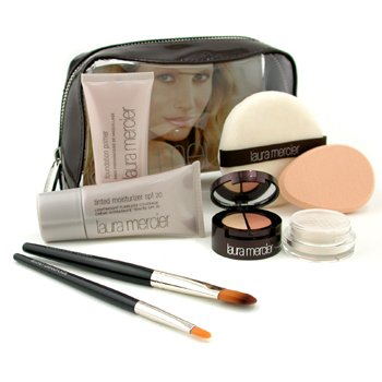 Laura Mercier-Flawless Face Kit - # Nude: Foundation Primer 30ml+ Tinted Moisturizer 30ml+ Undercover Pot+ 2x Brush+ Puff+ Sponge+ Bag