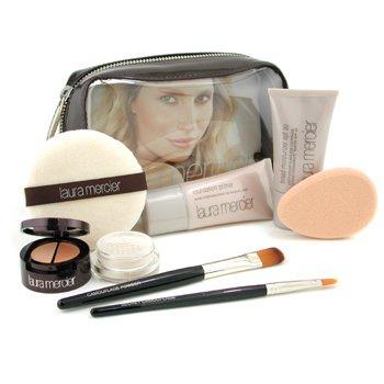 Laura Mercier-Flawless Face Kit - # Sand: Foundation Primer 30ml+ Tinted Moisturizer 30ml+ Undercover Pot+ 2x Brush+ Puff+ Sponge+ Bag
