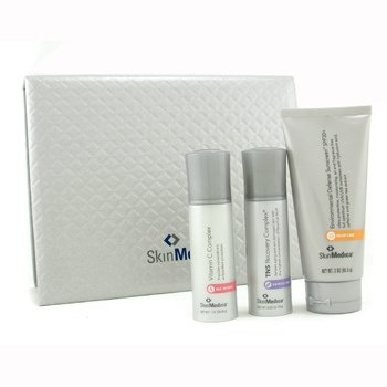 Skin Medica-Skin Medica Set: Sunscreen 85g + Vitamin C Complex 28.35g + TNS Recovery Complex 18g