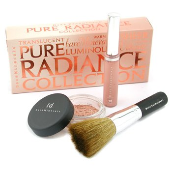 Bare Escentuals-Pure Radiance Collection: All Over Face Color 0.85g + Lip Gloss 6.3ml + Flawless Radiance Brush