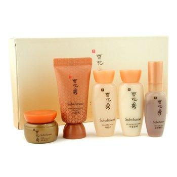 Sulwhasoo-Basic Kit: Balancing Water 15ml+ Emulsion 15ml+ Serum 8ml+ Ginseng Cream 5ml+ Overnight Treatment 15ml
