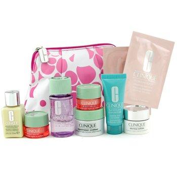 Clinique-Travel Set: Make Up Remover + DDML + Repairwear + Derma White Cream + Turnaround + 2x Eye Cream + 2x Eye Mask + Bag