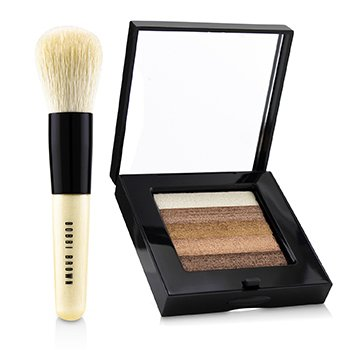 Bobbi Brown-Bronze Shimmer Brick Set: Bronze Shimmer Brick Compact + Mini Face Blender Brush ( Limited Edition )