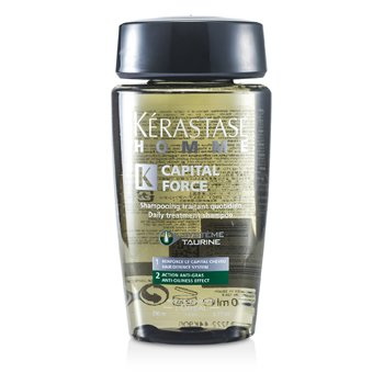 Kerastase Homme Capital Force Daily Treatment Shampoo (Anti-Oiliness Effect)  250ml/8.5oz