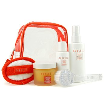 Borghese-Cura-C Renewal Treatment Kit: Renewal Treatment 65ml + Activator 60ml + Mist 115ml + Brush + Mitt + Bag