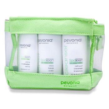 Pevonia Botanica All Skin Types Kit: Cleanser 120ml + Toner 120ml + Moisturizer 50ml  3pcs+1bag