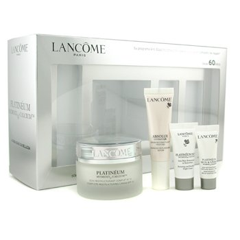 Lancome-Platineum Coffret: Restructuring Cream 50ml+ Night Cream 5ml+ Eye & Lip Cream 3ml+ Replenishing Serum 10ml