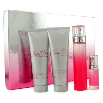 Paris Hilton Just Me Coffret: Edp Spray 50ml+ Body Lotion 90ml+ Shower Gel 90ml+ Mini 7.5ml  4pcs