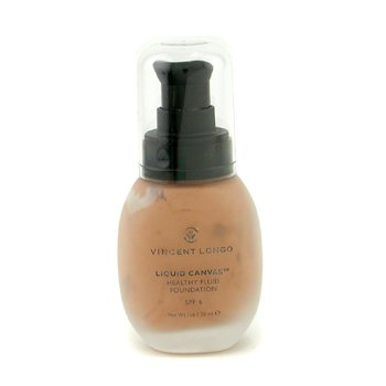 Vincent Longo-Liquid Canvas Healthy Fluid Foundation SPF 6 - Medium Beige