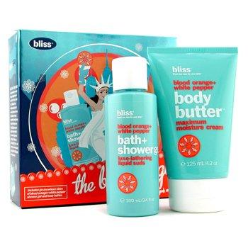 Bliss-The Big Orange Blood Orange + White Pepper Set: Body Butter 125ml + Shower Gel 100ml ( Box Slightly Damaged )