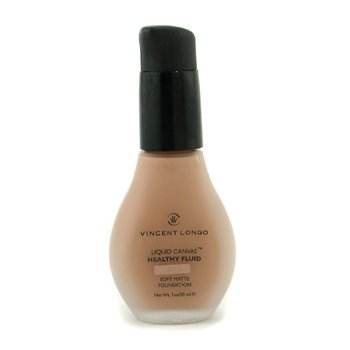 Vincent Longo-Liquid Canvas Healthy Fluid Foundation w/ Pump ( Sheer Matte ) - # 7 Golden Tan