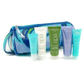 H2O+-Travel Set: Mud Mask 30ml + Shower Cream 30ml + Body Cream 30ml + Rejuvenating Gel 15ml + Eye Complex 4ml + Bag