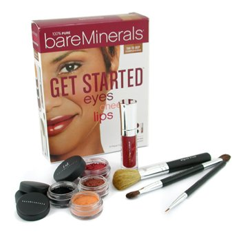 Bare EscentualsGet Started Eyes Cheeks Lips 8 Piece Collection - # Tan To Deep Complexion 8pcs