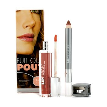 Fusion Beauty Full Out Pout Lip Plump Set - Color Shine (# Fresh) + Pencil (# Pout) 2pcs