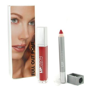 Fusion Beauty-Full Out Pout Lip Plump Set - Color Shine ( # Bloom ) + Pencil ( # Glam )