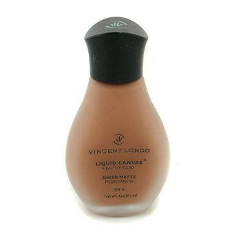 Vincent Longo-Liquid Canvas Healthy Fluid Foundation SPF8 ( Sheer Matte ) - # 10 Sienna