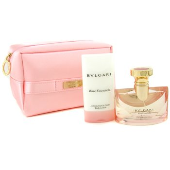 Bvlgari-Rose Essentielle Coffret: Eau De Parfum Spray 50ml + Body Lotion 75ml + Pink Bag
