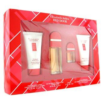 Elizabeth Arden-Red Door Coffret: Eau De Toilette Spray 25ml+ Parfum 5ml+ Body Lotion 50ml+ Shower Gel 50ml