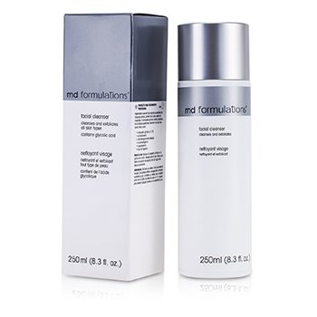 MD Formulations Facial Cleanser Cleanse & Exfoliates - Pembersih ( Mengandung Gliycolic Acid )  250ml/8.3oz