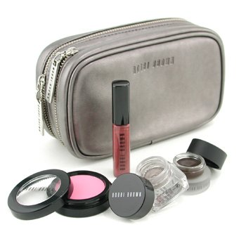 Bobbi Brown-Stardust Collection: Blush + Cream Shadow + Gel Eyeliner + Shimmer Lip Gloss + Cosmetic Case