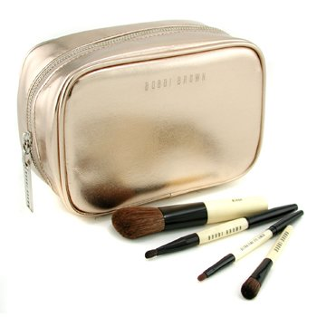 Bobbi Brown-Copper Diamond Cosmetic Bag with Mini Brushes