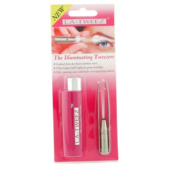 La Tweeze-Illuminating Tweezer ( Built In LED Light Tweezer ) - Pink Case